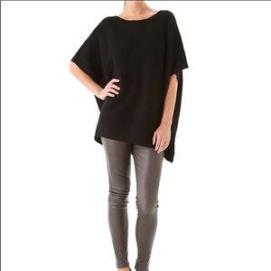 Vince Linen Short Sleeve Poncho Style Shirt